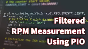 Filtered RPM Measurement Using PIO