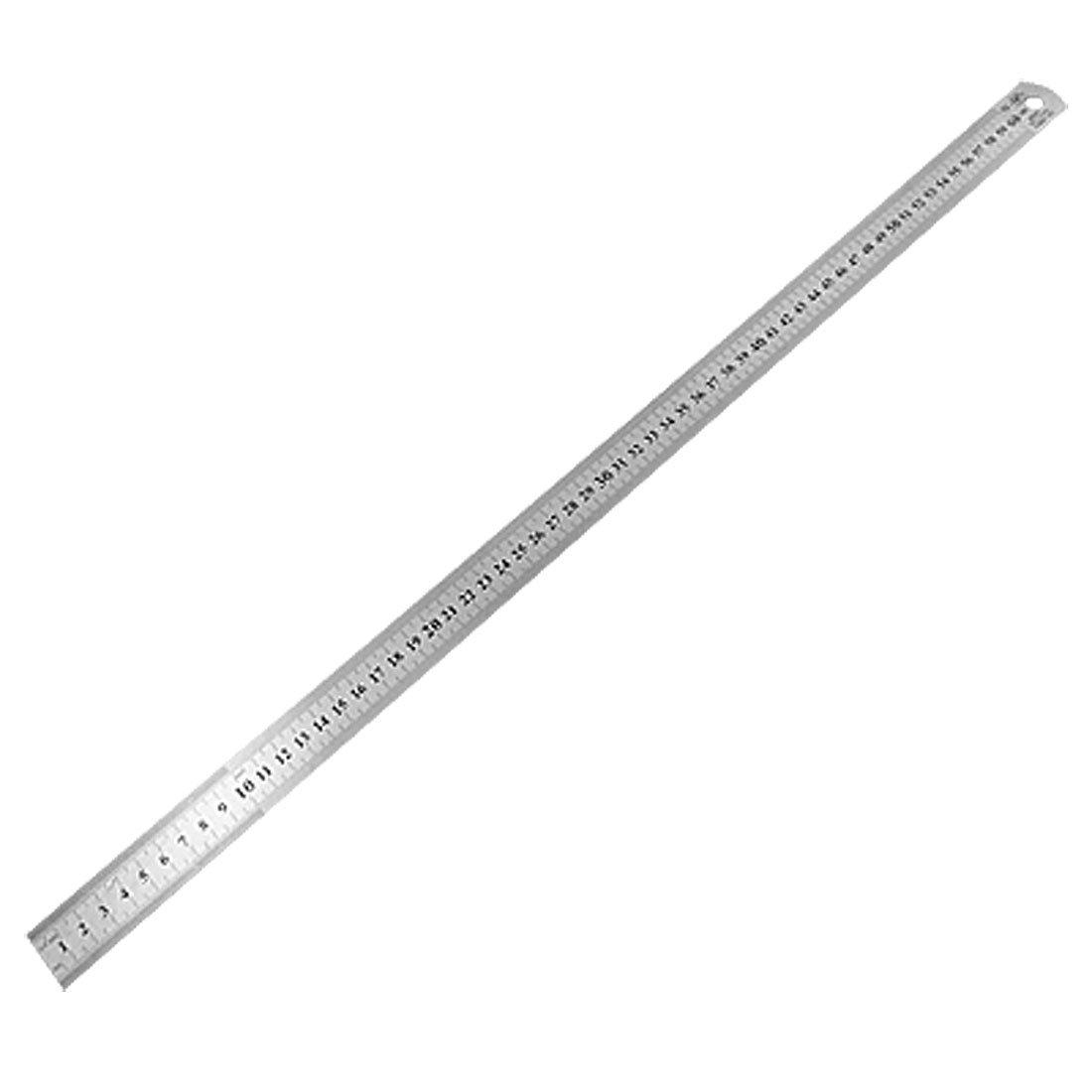 60cm Stainless Metal Measuring Straight Ruler Hy