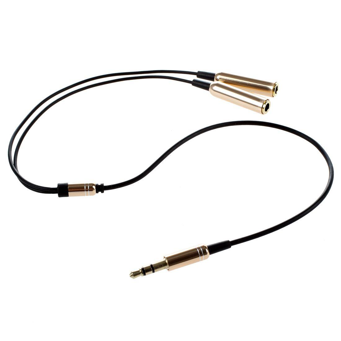 Fiche De 3 5mm Male A Double Connecteur Adaptateur Femelle