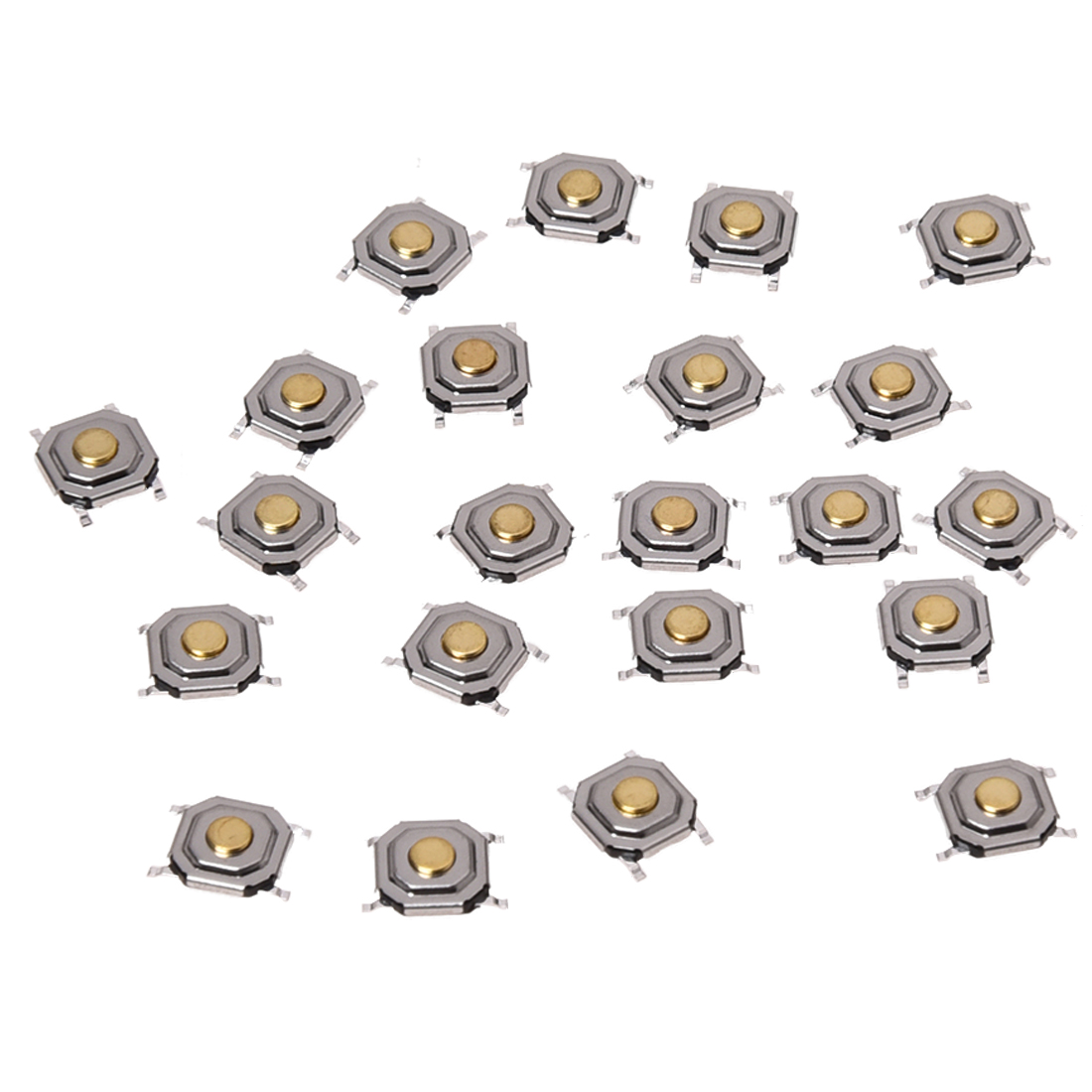 22pcs 4x4x1 5mm Smt Smd Momentary Tact Tactile Push Button