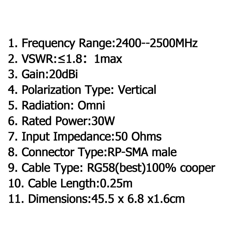 20dbi 2 4ghz 13 Directional Elements Wireless Yagi Antenna