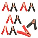 10 x Metal Car Battery Clamps Crocodile Test Clips 100A 90Mm Red
