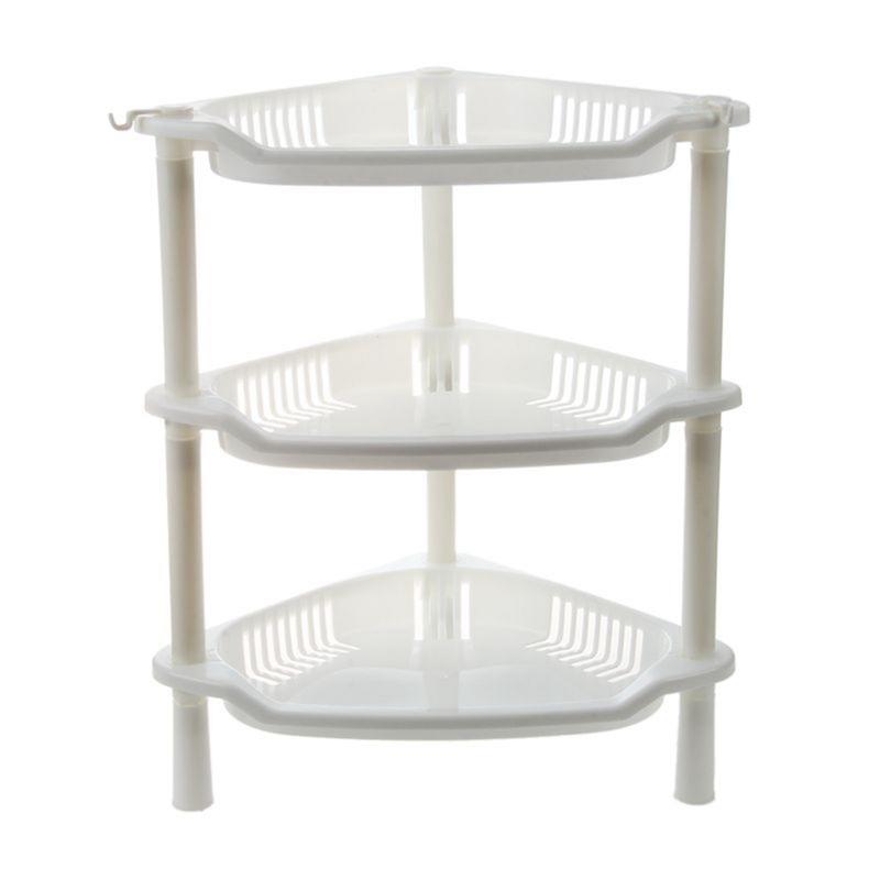 details sur 3 niveaux en plastique etagere d angle organisateur armoire salle de bains n1n5