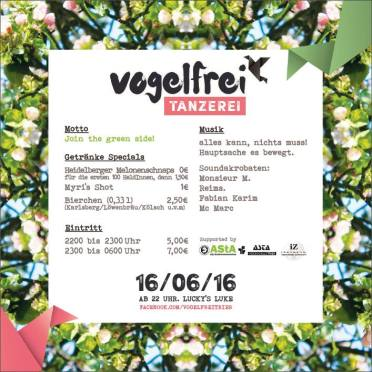 Vogelfrei Tanzerei: Join the Green Side!