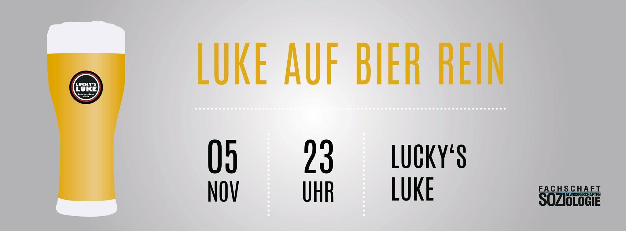 Luke auf Bier rein