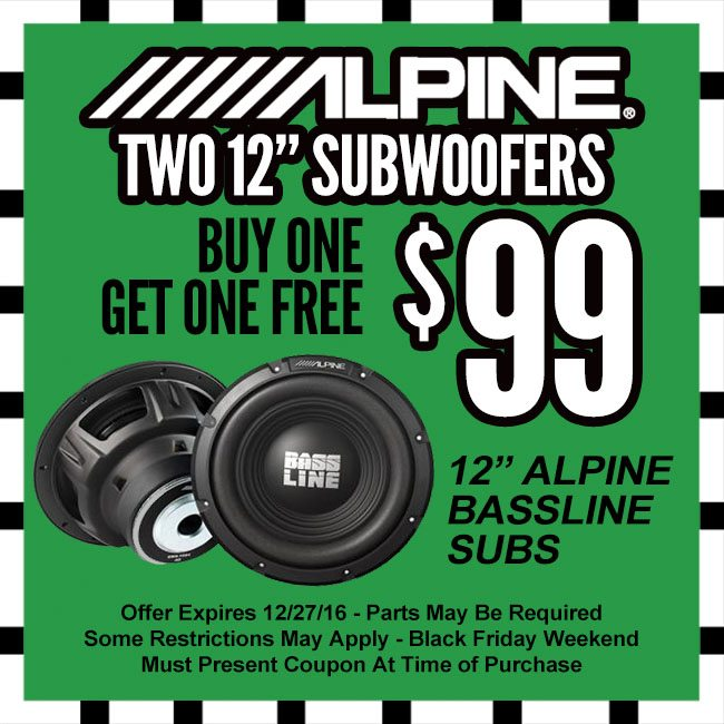 Alpine Subs Cyber Monday Coupon