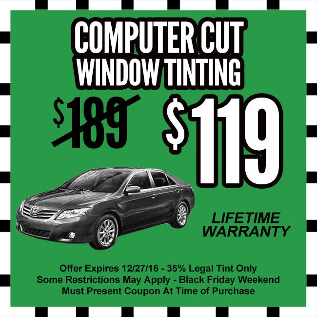 Computer Cut Window Tinting Cyber Monday Coupon