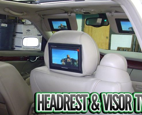 Headrest and Visor TVs