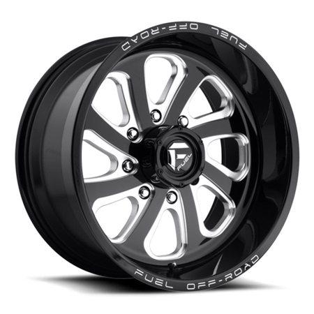Fuel Flow Black Milled 20x10 Wheels