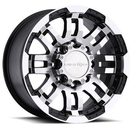 Vision Warrior 375 Black Machined Wheels