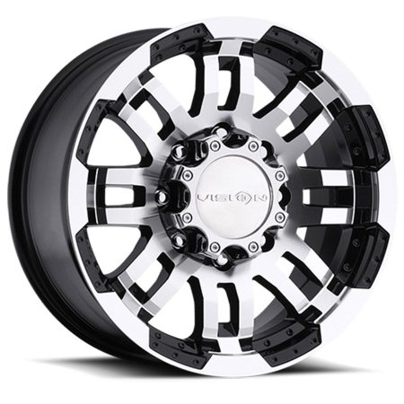 Vision Warrior 375 Black Machined Wheels