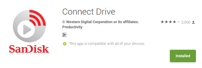 Aplikasi Connect Drive di Playstore