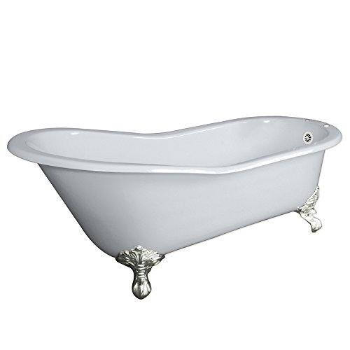 Claw Foot 61 Cast Iron Slipper Bathtub With 7 Faucet