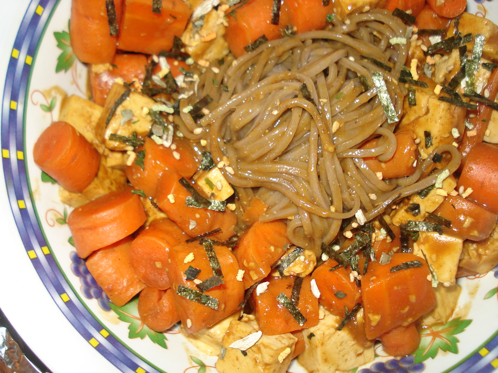 vegetarian curry soba noodles