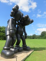 The incredible KAWS sculptures.