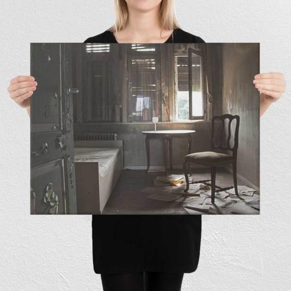 Photograph of Abandioned Chinese restaurant and resort, Aartselaar, Belgium on canvas