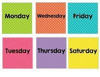 Calendar Days of the Week Freebie - Lucky to Be in First