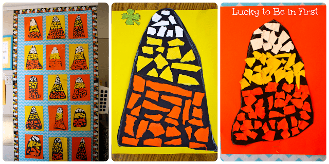 Halloween Candy Corn Art - Lucky to Be in First