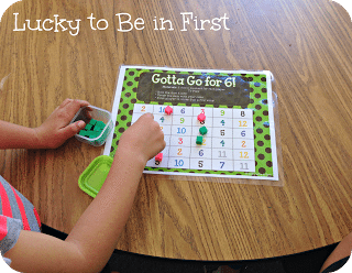 Gotta Go For 6! Game to help students practice Math facts {FREEBIE} Lucky to Be in FIrst