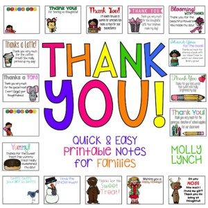 Thank You Notes for Families Lucky to Be in First