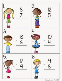Subtraction Hunt Math Mania Freebie Lucky to Be in First