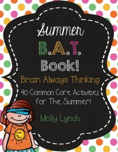 Prevent Summer Slide with the Summer B.A.T. Book by Lucky to Be in First