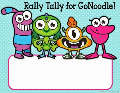 GoNoodle Rally Tally - Lucky to Be in First Freebie