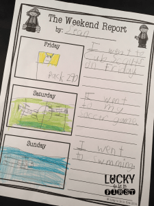 The Weekend Report Lucky to Be in First Writing
