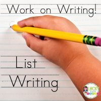 Work on Writing Daily 5 Lucky to Be in First List Writing