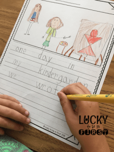 Work on Writing Daily 5 Lucky to Be in First