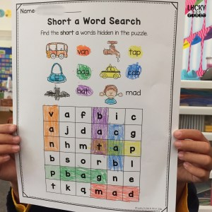 Short A Word Search makes learning short vowels fun! | Lucky to Be in First
