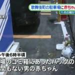 歌舞伎町で赤ちゃんの遺体が見つかった場所はどこ?遺棄した動機やネットの反応は?