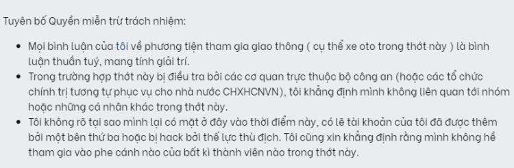 """lucloi.vn_Văn Mẫu """"Tuyên Bố Quyền Miễn Trừ Trách Nhiệm"""""""
