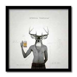 [ VENDU grand format 1/5 ] Forever Saint-Patrick #3 / Luc Pallegoix, 2013. Encre pigmentaire sur papier Moab blanc 300 gr. Disponible en grand format  50 x 50 cm 5 ex.  ou moyen format   23 x 23 cm 10 ex.   ou petit format   12,5 x 12,5 cm 15 ex.  
