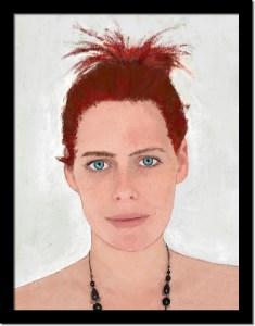 TOUTES ! / Luc Pallegoix, 2017. Peinture numérique puis encre pigmentaire sur papier Moab blanc 300 gr. [31 X 41 cm] encadré en noir. 1200 $ + taxes