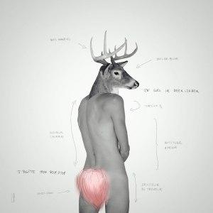 THE DEERLEADER #3 / Luc Pallegoix, 2013. Encre pigmentaire sur papier Moab blanc 300 gr. Disponible en grand format  50 x 50 cm 5 ex.  ou moyen format   23 x 23 cm 10 ex.  