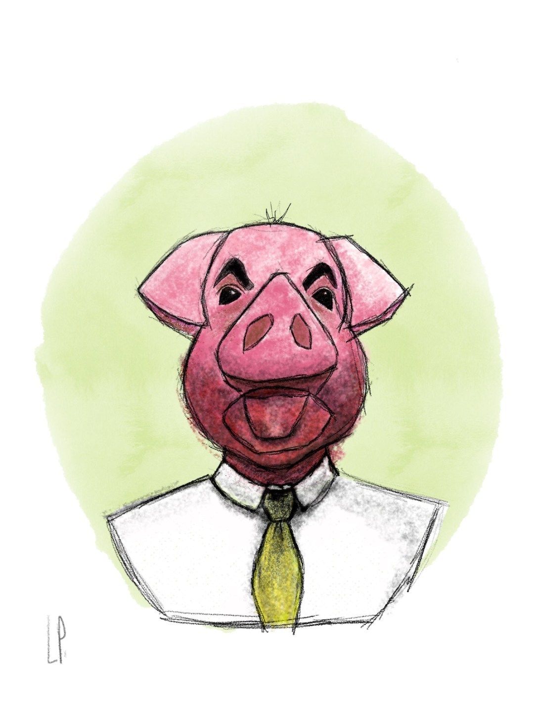 Monsieur Grognon a une tête de cochon /Luc Pallegoix, 2020.