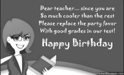 Greatest Teacher Birthday Wishes And Greetings Message Images
