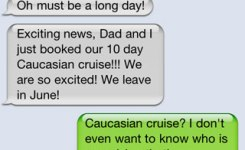 Funny Text Messages What Kind Of Cruise