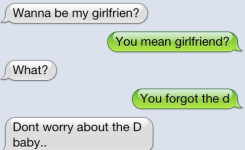 Funny Dirty Joke On A Text Message You Mean Girlfriend What You Forgot