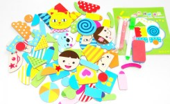 Funny Baby Educational Toys Wooden Magnetic Puzzle Jungle Animal Children Kids Jigsaw Baby Drawing Color Perception
