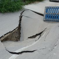 Collapsed Road into Thracian Cliffs