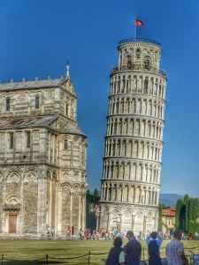 Don checks out the leaning Tower of Pisa