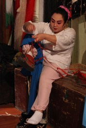 Opera performer getting ready, Chengdu, Sichuan
