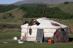 Ger in Naiman Nuur area, Central Mongolia