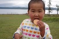 Child at Khovsgol lake, North Mongolia