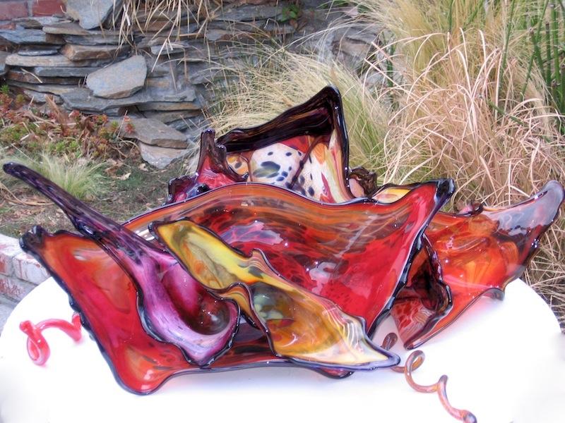 Spring Flower Glass Sculptures
