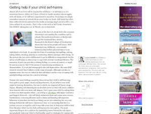 Getting Help if Your Child Self Harms