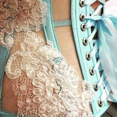Bobbinet bridal corset by Ivory Rose Design - as part of a Foundations Revealed tutorial on how to work with bobbinet