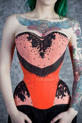Yana Sinner modelling the Rock'n'Rose overbust by Sinner Couture ($490)